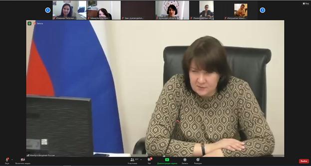 Совещание в формате ВКС, проведённое Департаментом государственной политики в сфере воспитания, дополнительного образования и детского отдыха Министерства просвещения Российской Федерации